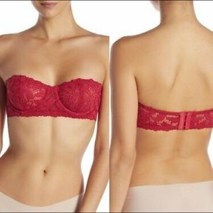 NWT FREE PEOPLE Love Letters Lace Strapless Bra34D